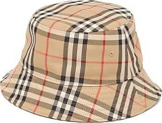 Burberry Vintage-check Cotton Bucket Hat - Womens - Beige Multi