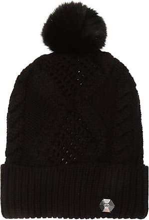 Philipp Plein Wool Hat With Pompom Womens Black