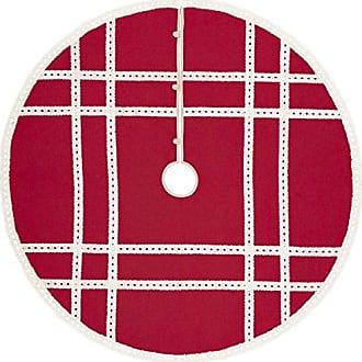 VHC Brands Holiday Decor - Margot Red Tree Skirt, 55 Diameter