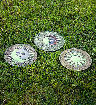 Zingz & Thingz Glow-In-The-Dark Celestial Stepping Stones, Set of 3