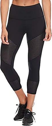 Body Glove Active Womens Flow Perfomance FIT Activewear Capri Pant, Black, X-Large