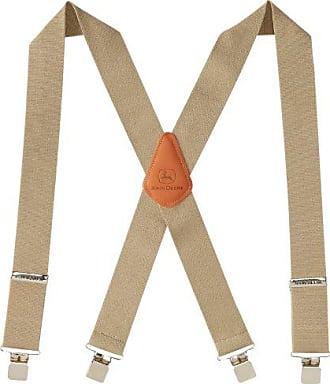 John Deere Mens 2 Logger Style Suspender, Khaki