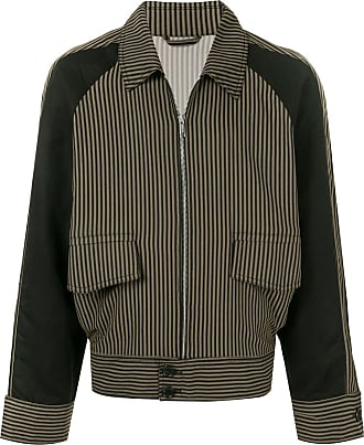 Cerruti striped bomber jacket - Brown