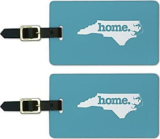 Graphics & More Graphics & More North Carolina Nc Home State Luggage Suitcase Id Tags-Solid Robin Egg Blue, White