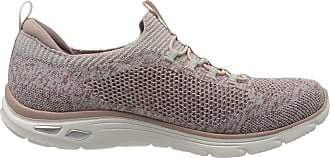 Skechers Womens Empire DLUX - Sharp WITTED Trainers, Pink (Rose Knit Mesh/White Trim ROS), 4.5 UK 37.5 EU