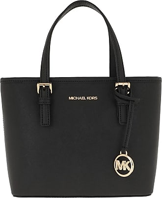 Michael Kors Tote - Jet Set Travel Tote Bag Black - black - Tote for ladies