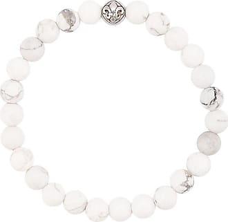 Nialaya faceted bead bracelet - White