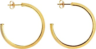 Zoe & Morgan Tasa Hoop Gold - one size | gold plated sterling silver | gold - Gold/Gold