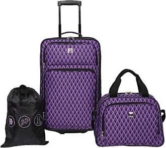 Skyline Furniture 3-Piece Travelling Luggage Set - Purple Diamond