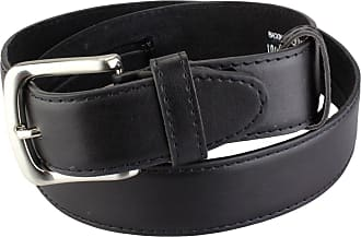 2Store24 Leather safe belt with zipper in black | Waist size 105 = 120cm Total length