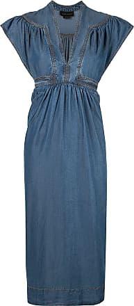 Karen Walker Bayou midi dress - Blue