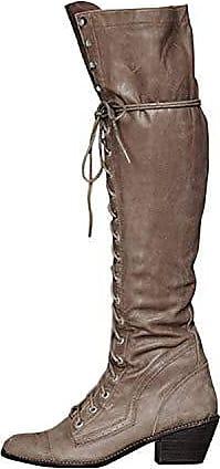 Klassischer Overknee Stiefel Umschlag High Heels Standardgröße