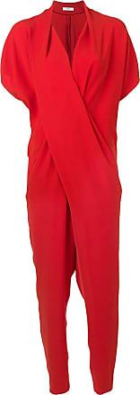Poiret Macacão drapeado - Vermelho