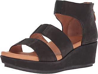 Gentle Souls by Kenneth Cole Womens Milena Triple Stretch Strap Platform Sandal Sandal, black, 9.5 M US