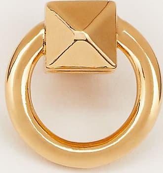 Valentino Garavani Valentino Garavani Ringstud Single Earring Women Gold Brass 100% OneSize