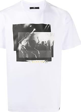7 For All Mankind Camiseta de algodão com estampa gráfica - Branco