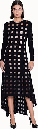 Akris Knit Dress with Square Intarsia Pattern
