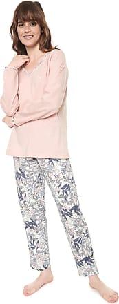 Pzama Pijama Pzama Estampado Rosa/Off-white