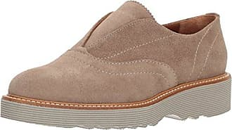 Aquatalia Womens Kaleigh Suede Loafer, Taupe, 7.5 M M US