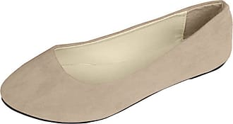 Vdual Women Ladies Slip On Flat Comfort Walking Ballerina Shoes Size UK 2.5-8 Khaki