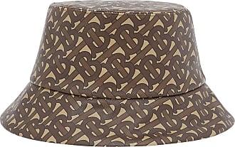 Burberry monogram print bucket hat - Brown