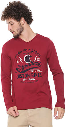 Malwee Camiseta Malwee Estampada Vermelha