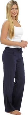 Tom Franks Womens Trousers Blue Dark Blue Navy UK 14