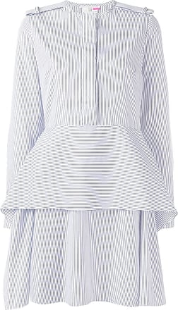 Stella McCartney striped peplum dress - White