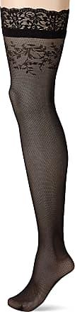 Fiore Womens Simona/Golden Line Classic Hold-up Stockings, 30 DEN, Black, Medium (Size: 3)