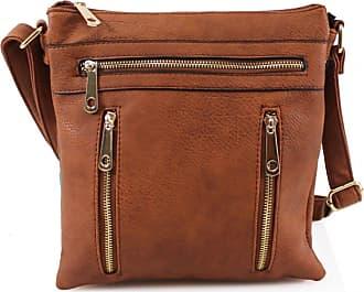 Your Dezire Womens Designer Zipper Trendy Messenger Cross Body Shoulder Bag Everyday Bags (Tan)