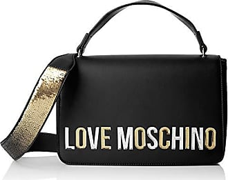 5573321403 Love Moschino Borsa Pu, Sac porté main femme, Noir (Nero), 7x18x29