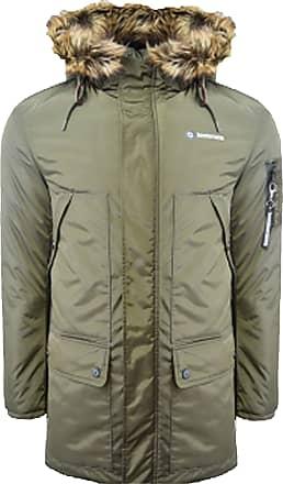 Mens Lambretta Retro Mod Sherpa Lined Fishtail Parka Jacket