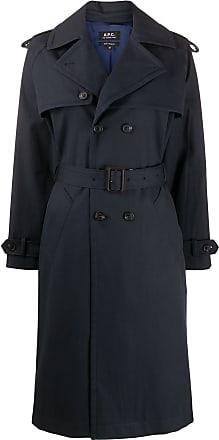 A.P.C. Trench coat Simone com abotoamento duplo - Azul
