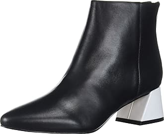 Katy Perry Womens Booties with Angled Block Heel Size: 5.5 UK Black White