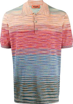 Missoni Camisa polo com listra abstrata - Azul