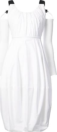 J.W.Anderson cold-shoulder balloon dress - White