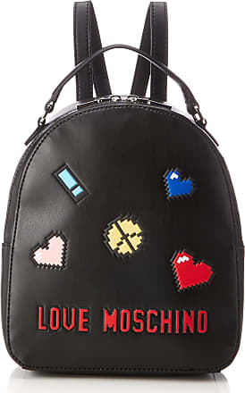 a203a00c38c Love Moschino Borsa Soft Nappa Pu Nero, Womens Backpack Handbag, Black,  10x28x24 cm