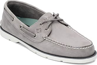 Sperry Top-Sider Sperry Mens, Leeward Boat Shoe Leather Grey 11.5 M