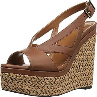 34e308b4255c Aquatalia Womens Carly Calf Wedge Sandal, Chocolate, 5.5 M US