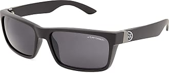 Urban Beach Mens Shield Flat Brow Sunglasses - Black