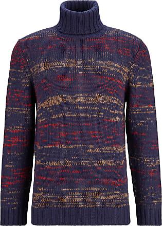 Nn.07 Herren Pullover in Blau gemustert XL