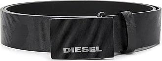 Diesel Cinto de couro camuflado - Preto