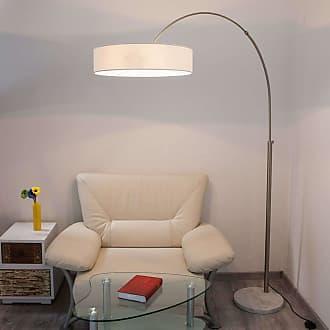Lindby Lámpara de pie Shing con pantalla de tela blanca