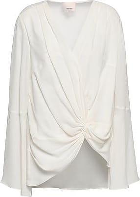 5ae7bc0a24b80 Cinq à Sept Cinq À Sept Woman Twist-front Silk Crepe De Chine Blouse Ivory