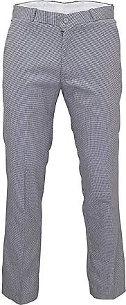 Relco Mens Stay Press Silver Dogtooth Trousers Sta Press Retro Mod Skin Ska VTG, 32 Inch
