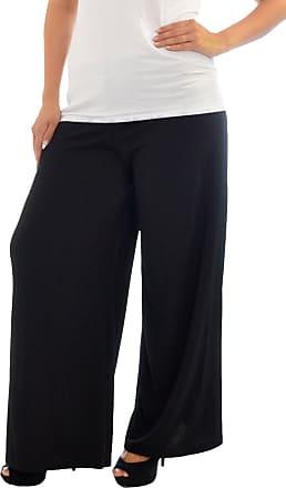 Nouvelle Collection Crepe Plazzo Trouser Black 26-28