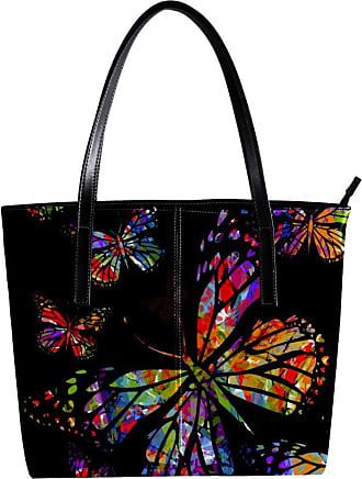 Nananma Womens Bag Shoulder Tote handbag with Camouflage Butterflies Pattern Zipper Purse PU Leather Top-handle Zip Bags