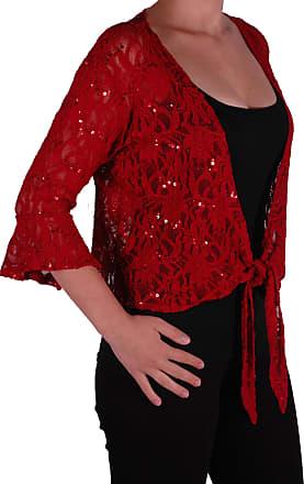New Ladies Plus Size Plain Short Sleeve Bolero Shrug Cardigan Top 12-26