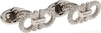 Salvatore Ferragamo Brass Cufflinks Mens Silver