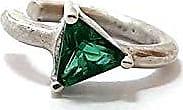 Boreale Joias Piercing Prata 925 Pressão Zircônia Esmeralda Triangular